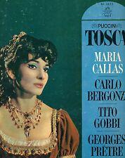 PUCCINI TOSCA MARIA CALLAS CARLO BERGONZI GOBBI GEORGES PRETRE 2-LP BOX (L5013)