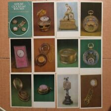 16 Antique Clock WATCH POSTCARD SET PC Russian Card Vintage Old Table Pocket pos