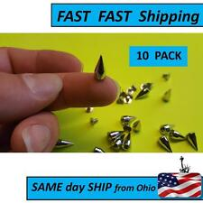 14mm Metal Bullet Spike Studs Punk Bag Belt Clothes Leathercraft Cone Rivet