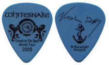 WHITESNAKE Guitar Pick : 2009 Good to be Bad Tour Uriah Duffy signature blue