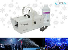 QTX SW2 máquina de nieve de alta potencia 1200 W + Efecto Discoteca DJ DMX libre Remoto 1 L Fluido