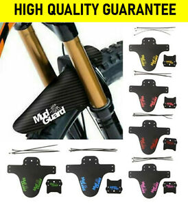 PAIR OF BICYCLE MUDGUARDS FRONT & REAR MOUNTAIN BIKE BICYCLE MUD GUARDS WING SET