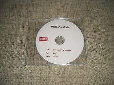 DEPECHE MODE - SOUNDS OF THE UNIVERSE - ADVANCE ACETATE PROMO DVD EPK  NO SPIRIT
