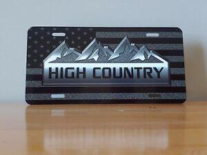 Chevy High Country Custom License Plate - Custom Car Tag - License Plate