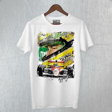 T-Shirt Maglietta Ayrton Senna Memory F1 Legends Tribute Brasil ChampionFine Art