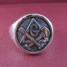 Solid silver Masonic ring - 2336