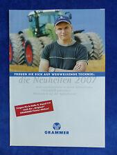 Grammer Neuheiten - Agritechnica 2007 - Prospekt Brochure 2007 (0740