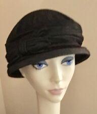 NWoT! IMAGA Designer Hat BLACK Denim Knit Lined $84