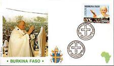 792-  FDC VATICAN VISITE PAPE JEAN PAUL II   AU  BURKINA FASO