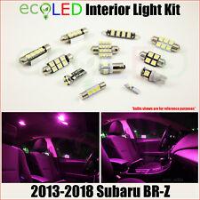 Fits 2013-2018 Subaru BR-Z BRZ PINK Interior LED Light Accessories Kit 6 Bulbs