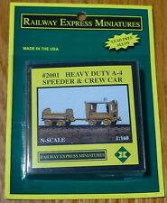 Railway Express Miniatures N #2001 Heavy Duty Speeder and Crew Car (Cast Kit)