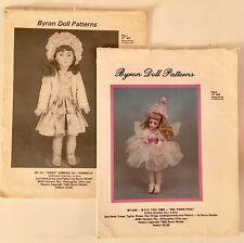 2 Byron Doll Patterns 1982, 1985