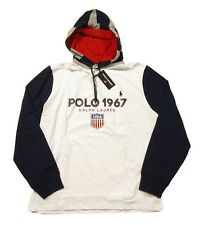 Polo Sport Ralph Lauren Men's White Graphic Hooded T-shirt Hoodie Large L