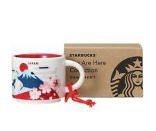 BNIB Starbucks Japan You Are Here YAH Mt Fuji Sakura Red Ornament Demi Mug 2oz