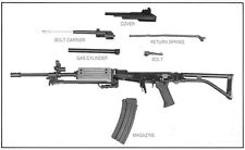 Weapons Books: M16-AR15-AK47-Winchester-Browning-Galil-M14-Springfield on CD