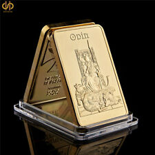 Norse Mythology Odin Father of The Gods Life Tree Gold Plated Bar Collection
