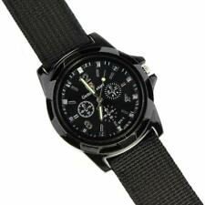 Men Fabric Sport Quartz Military Swiss ARMY Quality Watch BLACK - UK Fast Post {