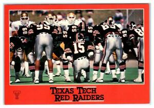 "LUBBOCK, TX ~ Football Game TEXAS TECH RED RAIDERS Keesee 1980s ~ 4""x6"" Postcard"
