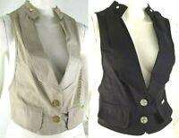 Gilet Donna Giacca Top PDK D034 Made in Italy Beige Tg L