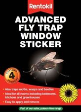 4x Rentokil Advanced Insect Flies Wasp Moth Pest Repel Sunflower Window Stickers