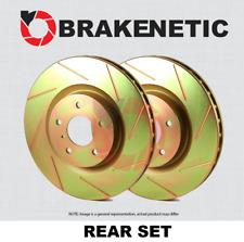 BRAKENETIC PREMIUM Cross DRILLED Brake Disc Rotors BNP61103.CD REAR SET