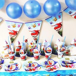 SUPER WINGS JETT JEROME BIRTHDAY PARTY DECORATION TABLE COVER NAPKINS BALLOONS