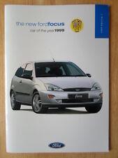 FORD FOCUS RANGE 1999 UK Mkt prestige sales brochure - CL Zetec LX Ghia
