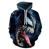 Horror Scary Venom Scream Out Men Women 3d Movie Pullover Hoodie Casual Cosplay