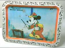 VTG WALT DISNEY MICKEY MOUSE THE BAND CONCERT CHILDS METAL FOLDING TV TRAY 1980