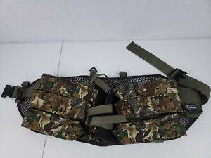 "Hunting Waist Belt Cartridge Ammo Holder Summer Camo Hold 6 Clips Ammo 34-55""Adj"