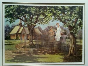 Love and Cherish James Lumbers S/N LE Litho country wedding bride family church