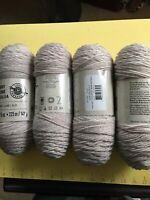 Yarn Loops & Threads Shabby Boheme 100% Acrylic 244yd 5oz Taupe Haze 4 Skein