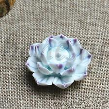 Ceramic Incense Burner Stick Holder Lotus Catcher Plate  Natural 1/3 Holes New