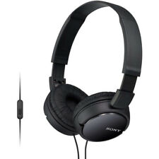 Sony MDR-ZX110 Black Sound Monitoring Headphones with Smartphone Mic & Control