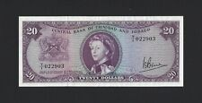 1964 TRINIDAD and TOBAGO $20 Dollars, P-29c 100% Orig EF / AU, Bruce Sig, Scarce