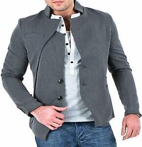 Mens Elegant Designer Grey Casual Slim Fitted Blazer Stunning Wool Jacket Coat