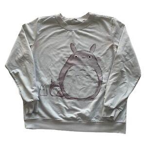 Vintage 80s My Neighbor Totoro Hand Drawn Custom Anime Sweatshirt Men's Medium