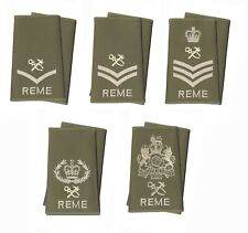 Pair Royal Electrical and Mechanical Engineers REME Rank Slides TRADE ARTIFICER