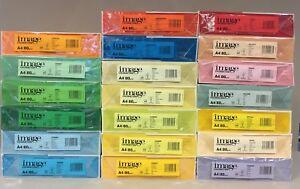 Buntes farbiges weißes Kopierpapier Papier 80gr A4. 2-10 Pakete. FARBEN WÄHLBAR