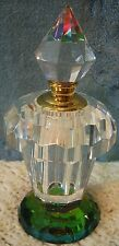 Crystal Glass Faceted Prism Color Perfume Display Bottle In Padded Case! NEW