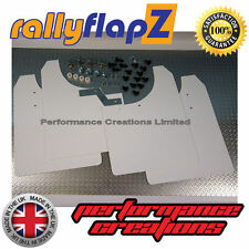 rallyflapZ to fit VAUXHALL ASTRA VXR (05-11) Mudflaps Mud Flaps White 4mm PVC