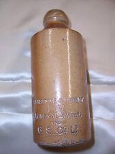 19th Century Stoneware Crock Bottle-Mineral Water-Folkestone & District