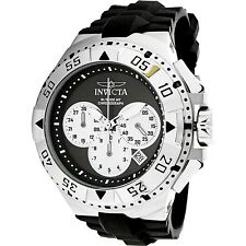 Invicta Mens Excursion 23039 Silver Rubber Swiss Chronograph Sport Watch