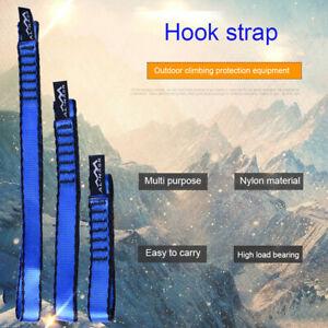 22KN Webbing Strap Sling Bearing Cord For Rock Climbing Arborist Reinforced Char