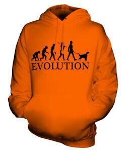 ENGLISH SETTER EVOLUTION OF MAN UNISEX HOODIE MENS WOMENS LADIES DOG LOVER GIFT