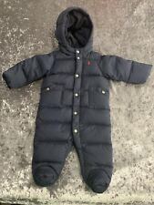 Polo Ralph Lauren Down Bunting Snowsuit Size 6 Months Navy Blue