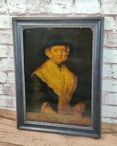 Antique 18c Reverse Glass Mezzotint Print By James McArdell  M Smith Portsmouth