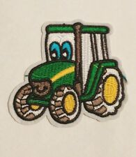 Johnny tractor and friends john deere Tractor Embroidered Iron On/Sew On Patch