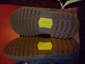 Girls Ugg Boots UK size 12 UK charcoal suede Harwell Buckles & Straps new