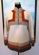 VTG 60's A.S EveBofoss Norway ColorBlock Wool Coat Sz 36/S